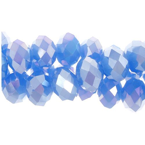 Chinese Crystal Rondelle Bead Strand, Opaque Periwinkle AB, 9x12mm,about 36 beads