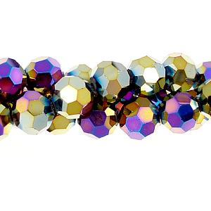 Chinese Crystal Round Strand, Rainbow, 10mm ,20 beads
