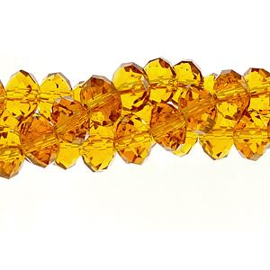 Chinese Crystal Rondelle Strand, Topaz, 6x8mm , about 72 beads