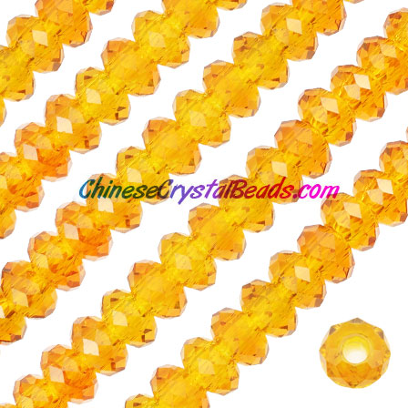 Crystal European Beads, Sunr, 8x14mm, 5mm big hole,12 beads