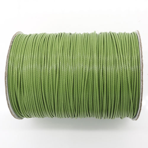 1mm, 1.5mm, 2mm Round Waxed Polyester Cord Thread, Olive