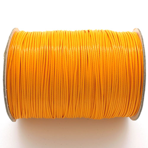 1mm, 1.5mm, 2mm Round Waxed Polyester Cord Thread, orange