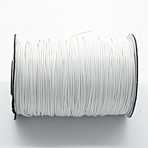 1mm, 1.5mm, 2mm Round Waxed Polyester Cord Thread, snow
