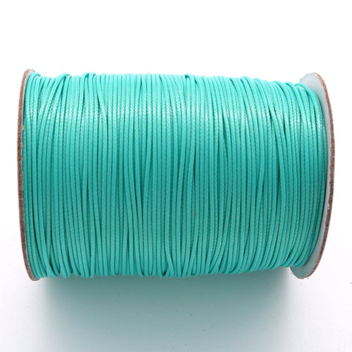 1mm, 1.5mm, 2mm Round Waxed Polyester Cord Thread, med Turquiose