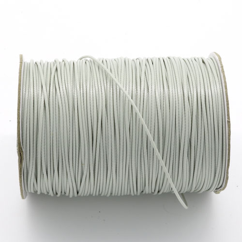 1mm, 1.5mm, 2mm Round Waxed Polyester Cord Thread, light gray