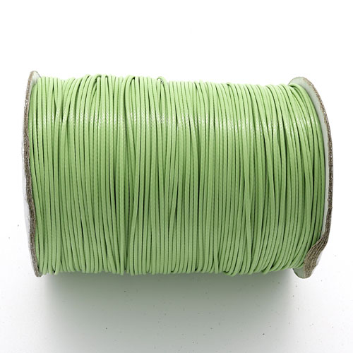 1mm, 1.5mm, 2mm Round Waxed Polyester Cord Thread, Light Olive