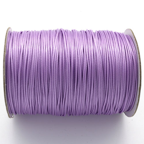 1mm, 1.5mm, 2mm Round Waxed Polyester Cord Thread, lt violet