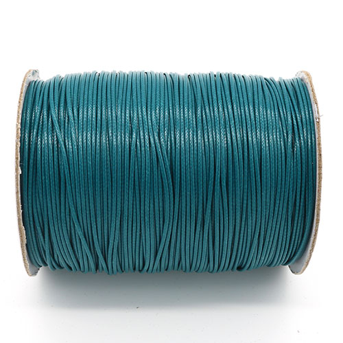 1mm, 1.5mm, 2mm Round Waxed Polyester Cord Thread, teal
